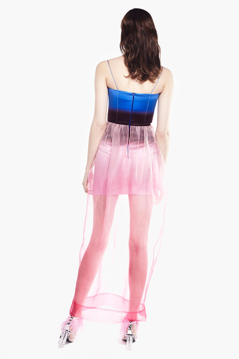 Gradient Tulle Sling Dress