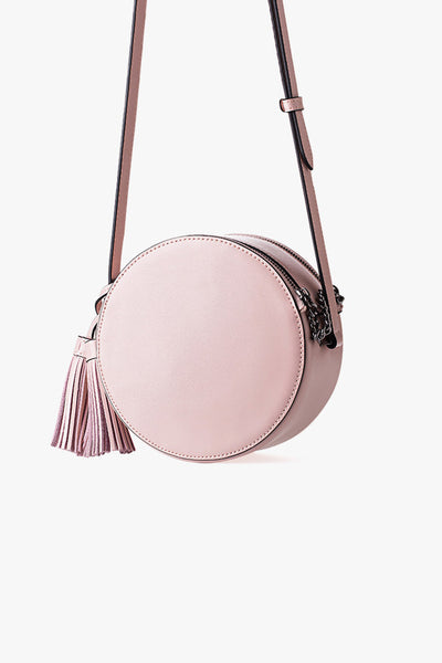 Round Leather Mini Bag