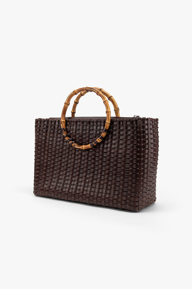 Woven Bamboo Tote