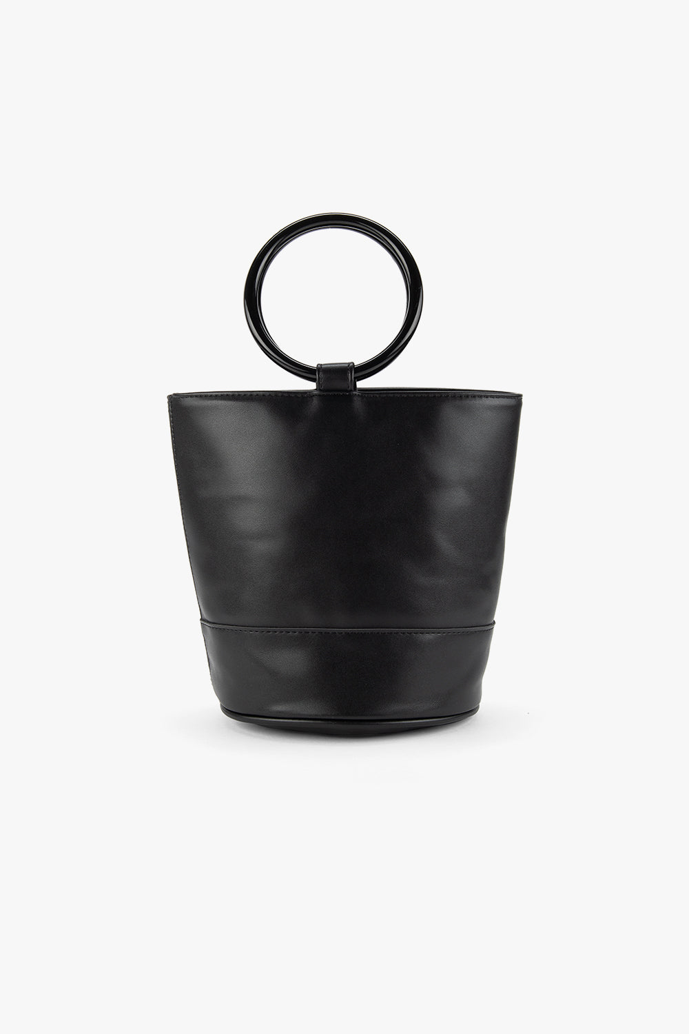 Faux Leather Mini Bucket Bag
