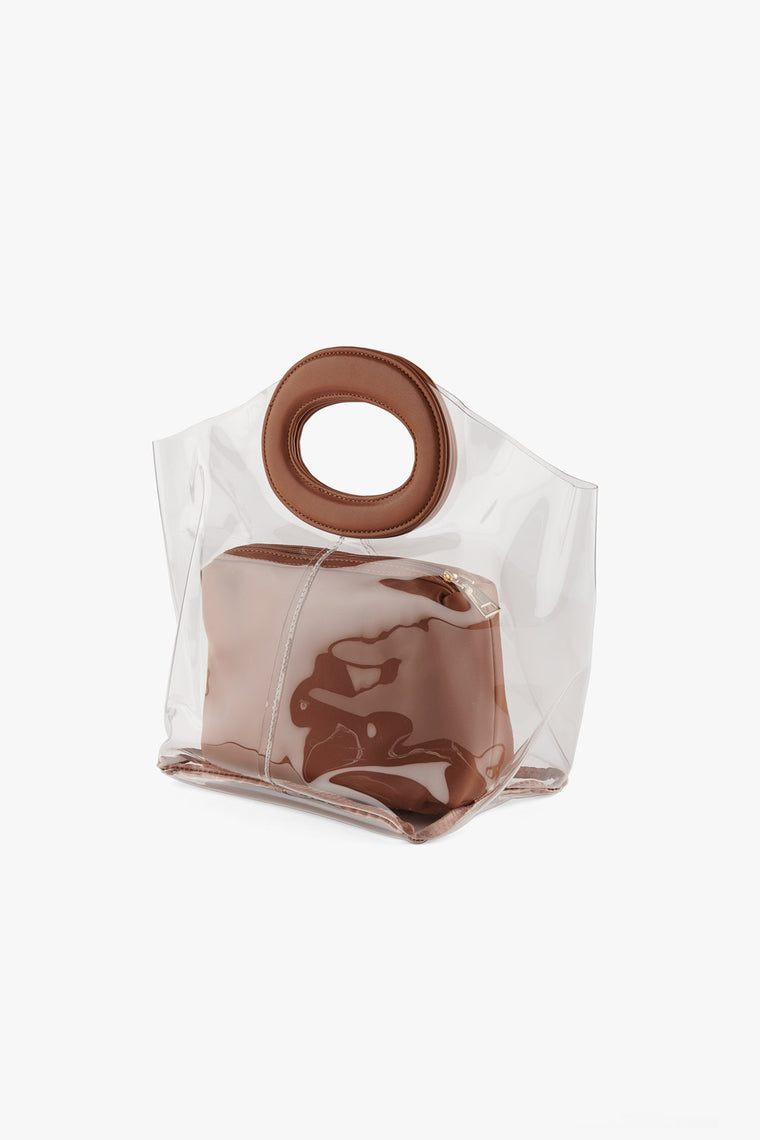 Transparent Round Handle Bag