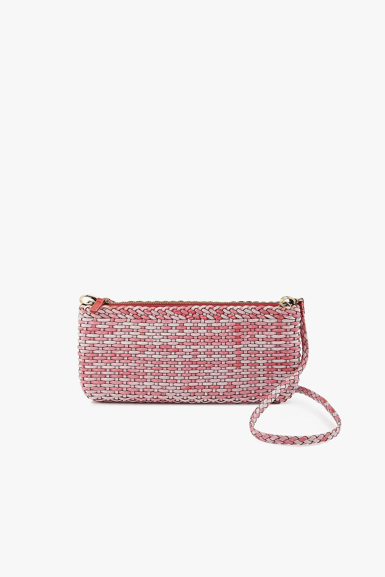 Leather Woven Clutch