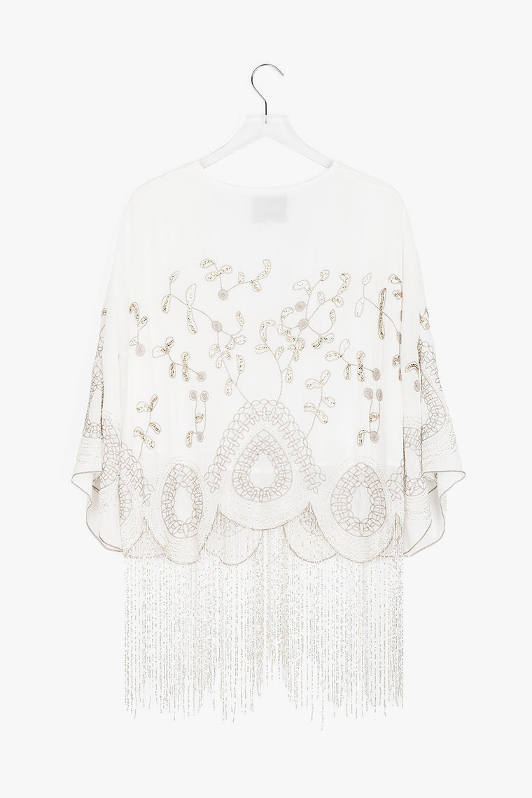 Delicate Embellished Beaded Cardigan