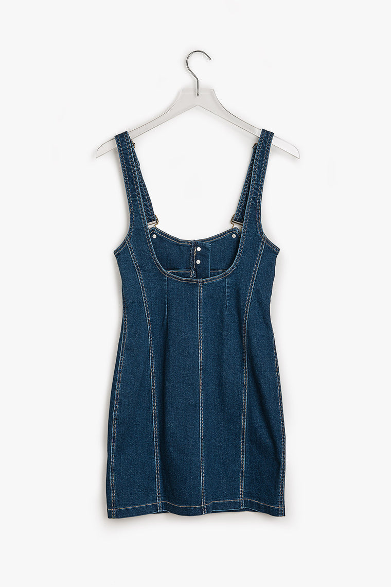 Bodycon Denim Overall