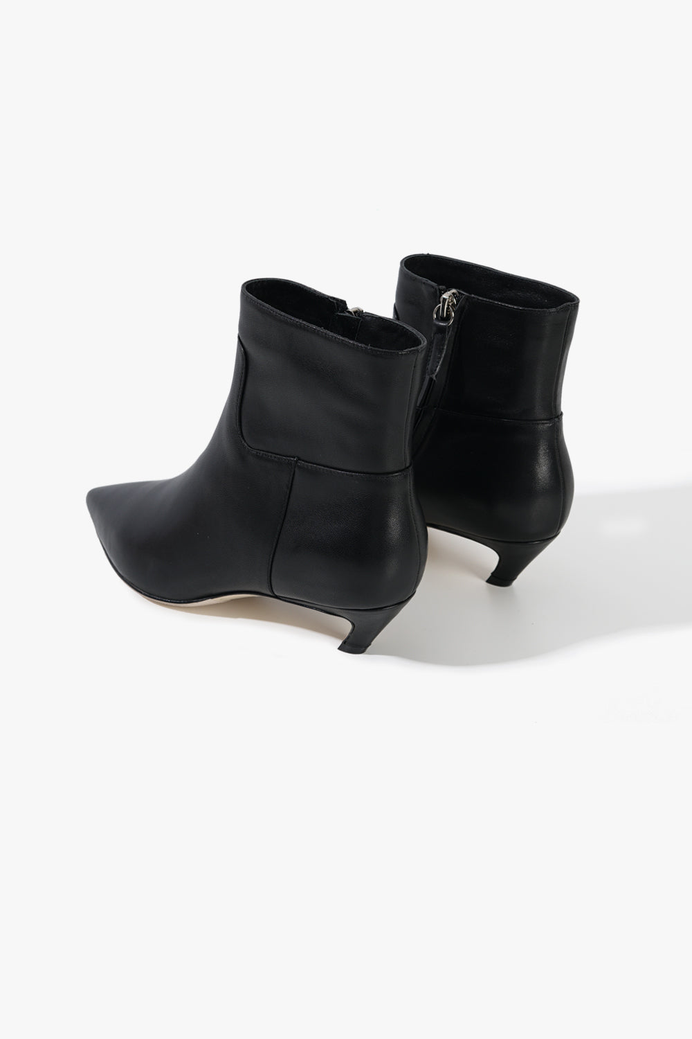 Leather Pointed Toe Bootie