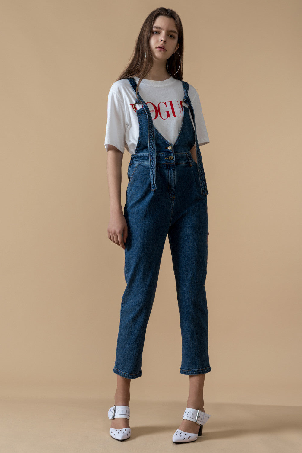 High Waist Denim Overall