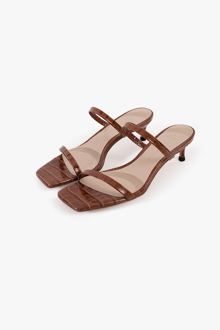 Textured Leather Sandals