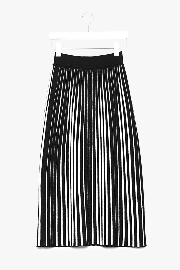 Ribbed Wool Midi Skirt