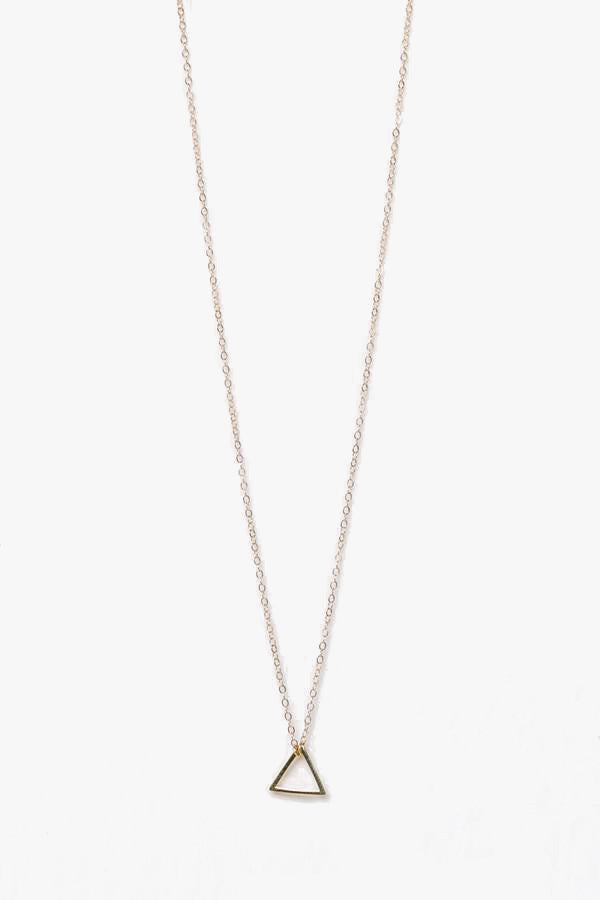 Mini Triangle Charm Delicate Necklace