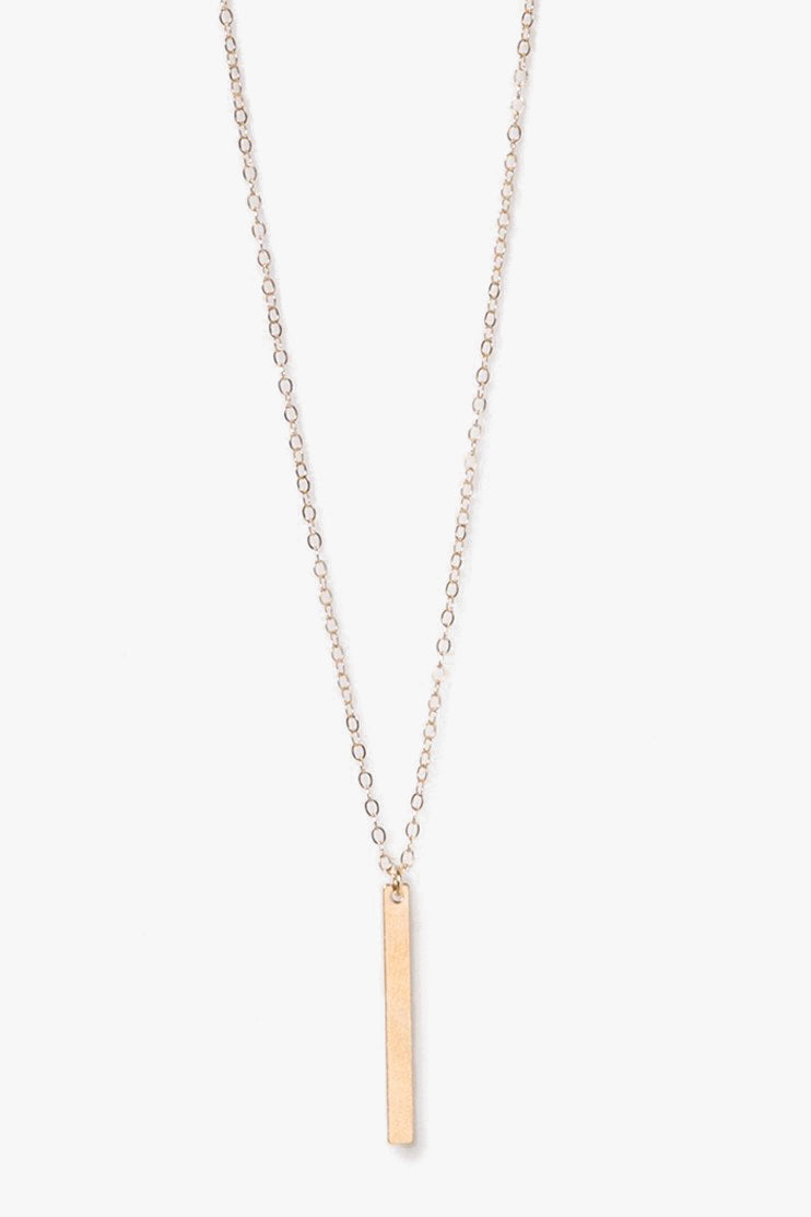 Metal Bar Chain Necklace