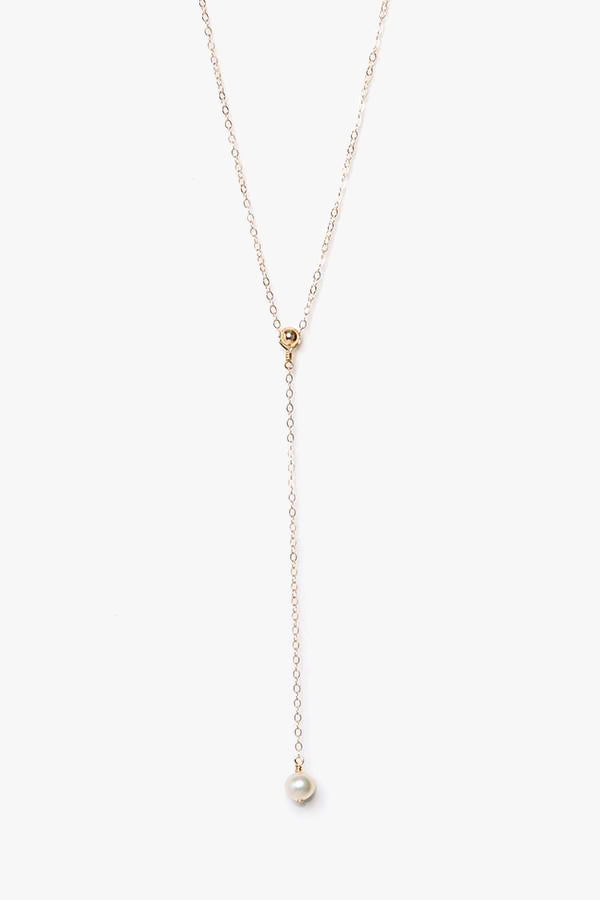 Water Pearl Lariat Y Necklace