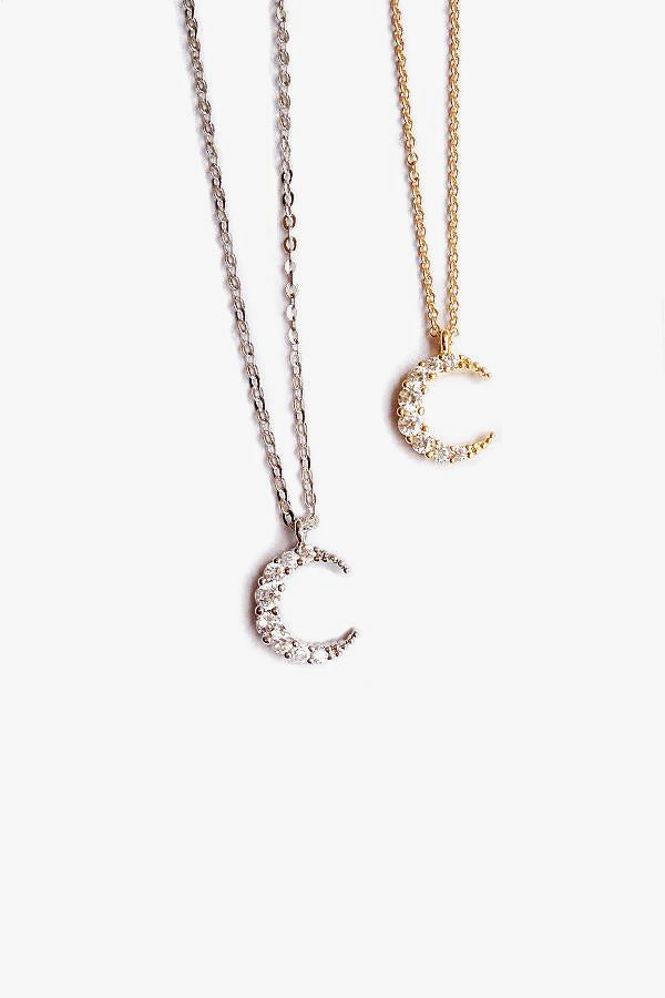 Moon Crystal Pendant Necklace