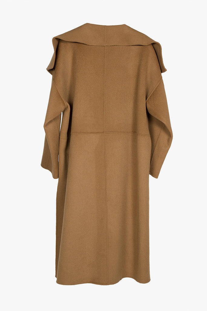 Oversized Wool Blend Cape