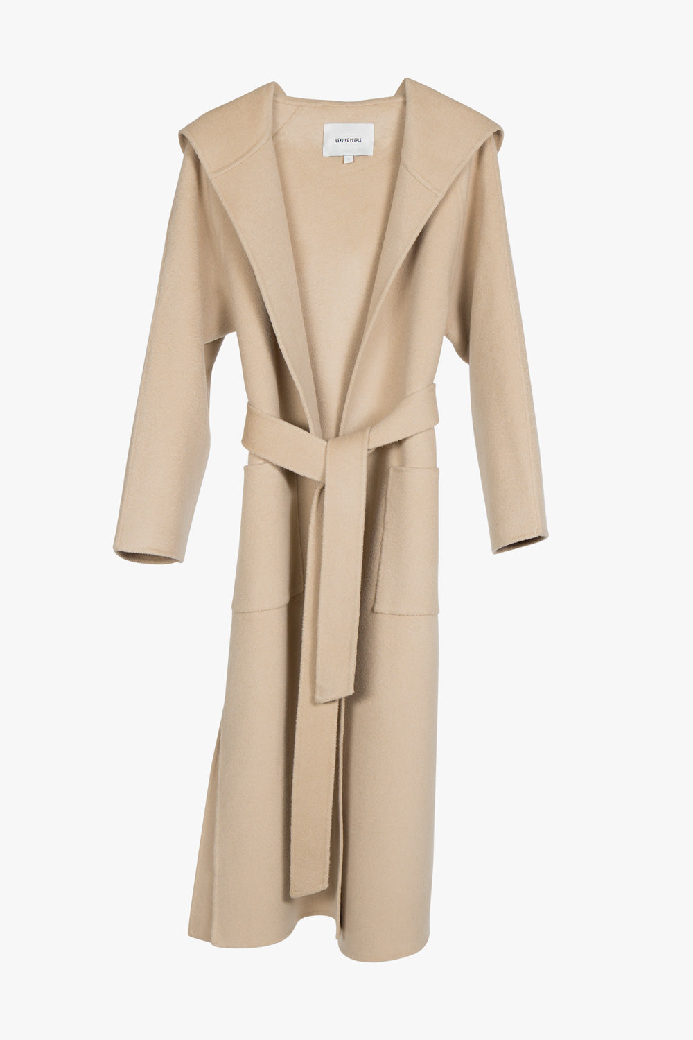 Wool Cashmere Blend Hooded Coat