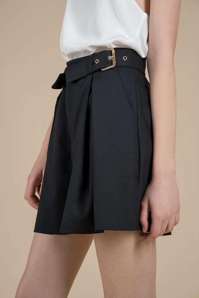 Belted High Waist Shorts