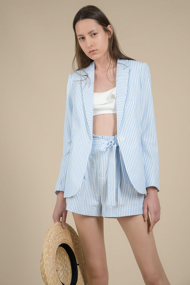 Blue Striped Jacket