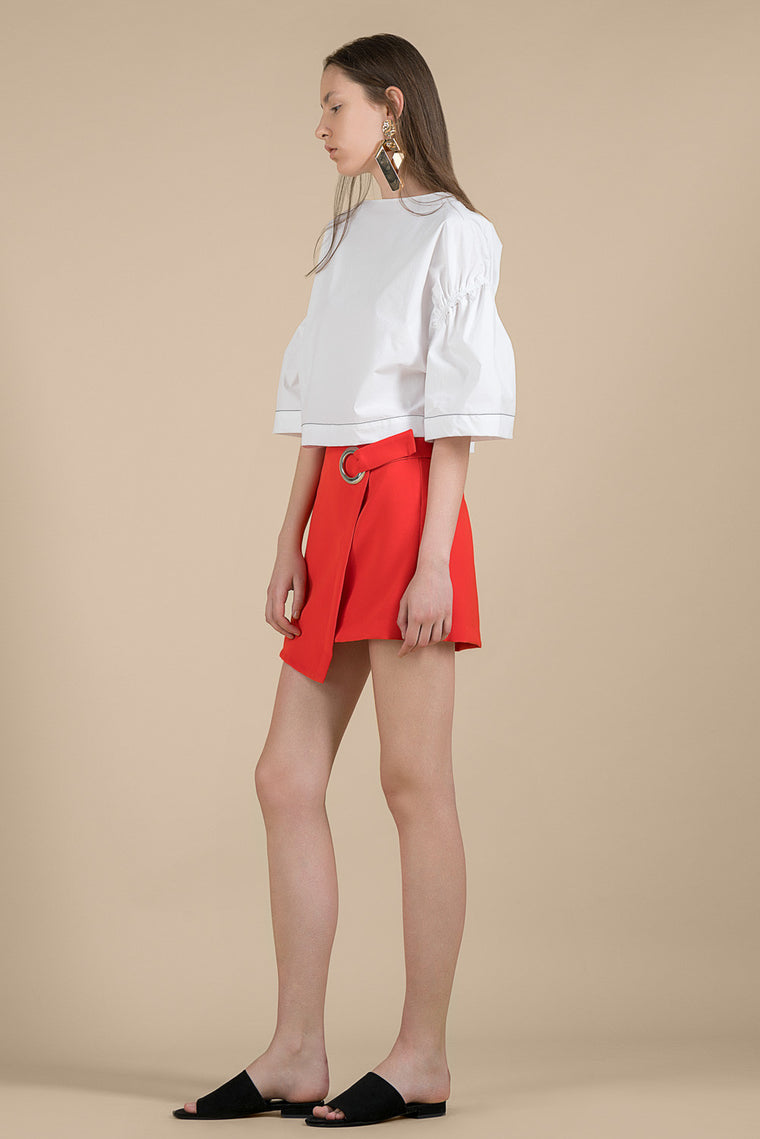 Belted Mini Skirt Shorts