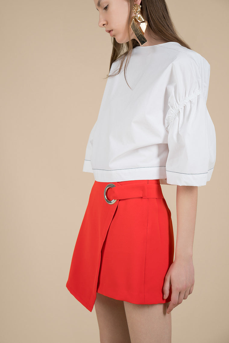 Wide Sleeve Crop Blouse