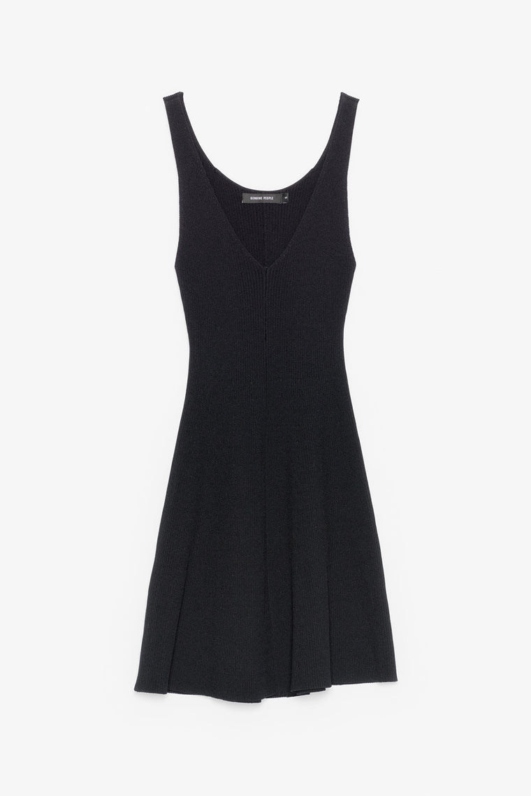 Sleeveless Stretch Knit Midi Dress