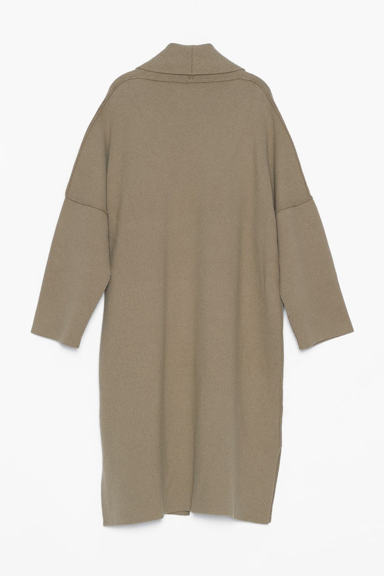 Oversized Heavy Wool Drape Coat