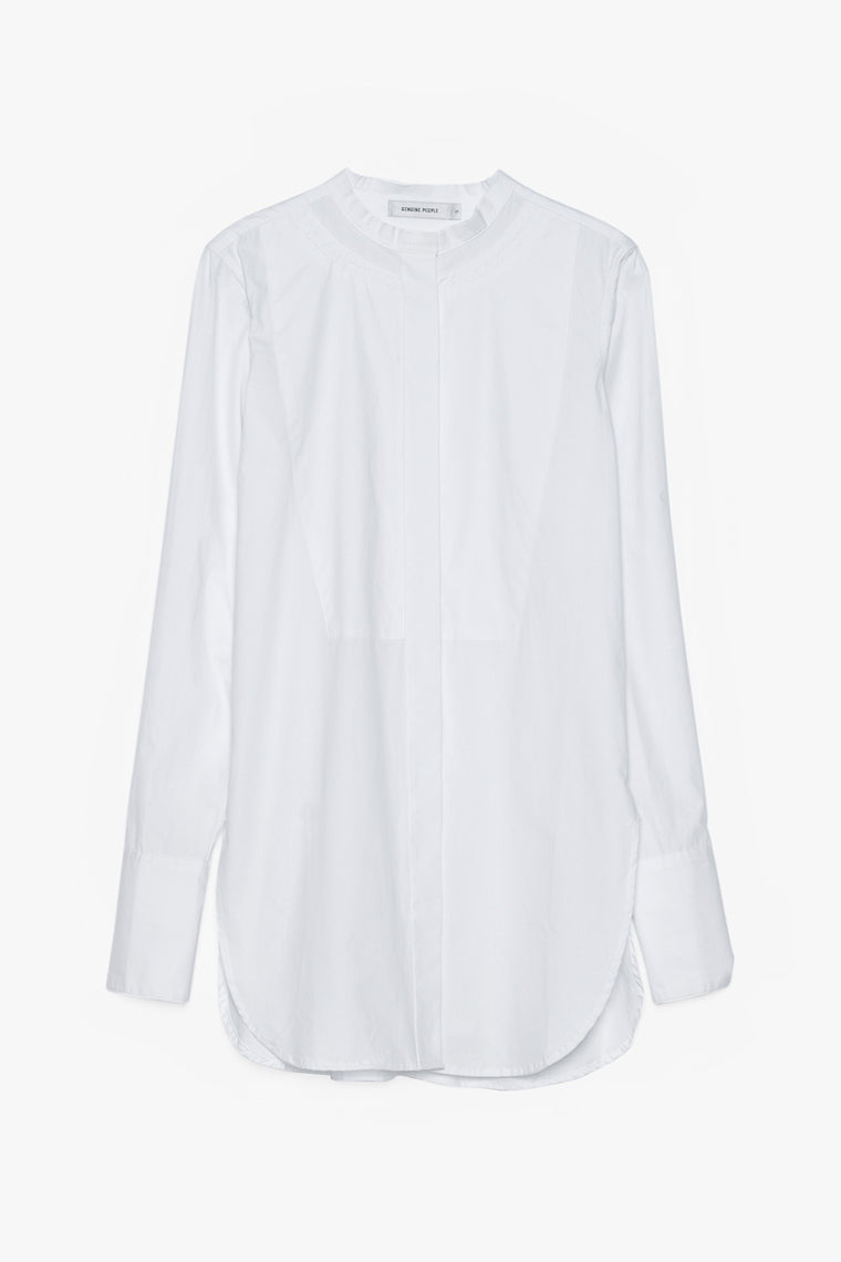 Cotton Tuxedo Button Down Shirt