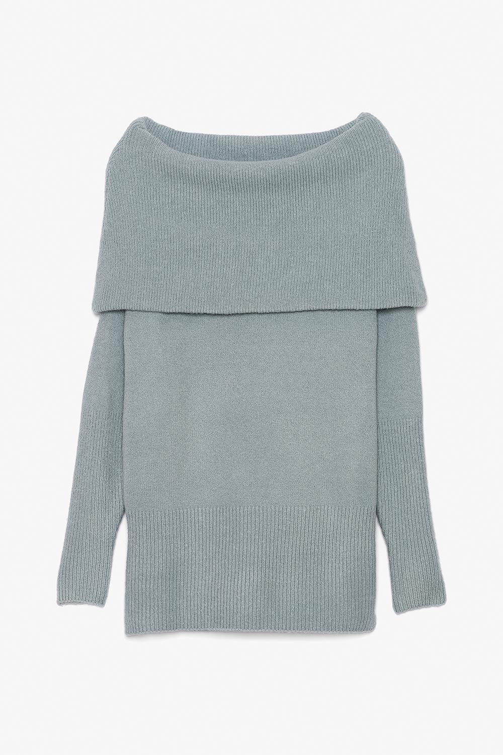 Wide Collar Mohair Sweater