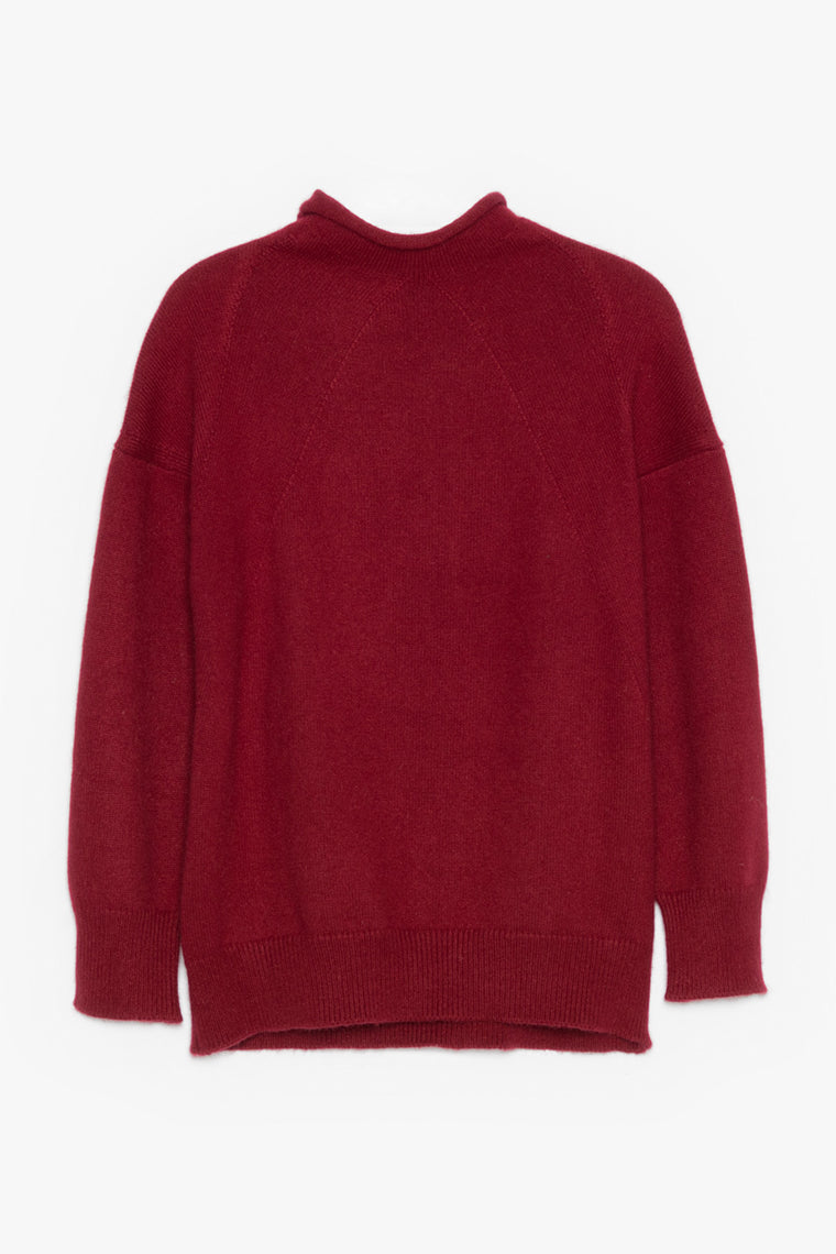 Crop High Neck Cashmere Sweater