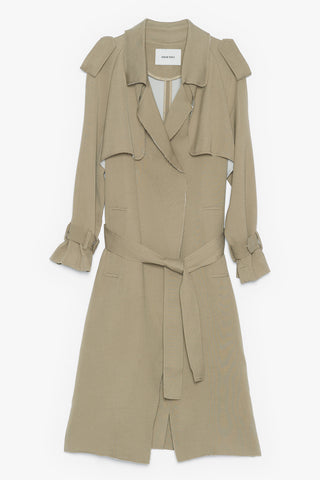 Draped Mid Weight Trench Coat
