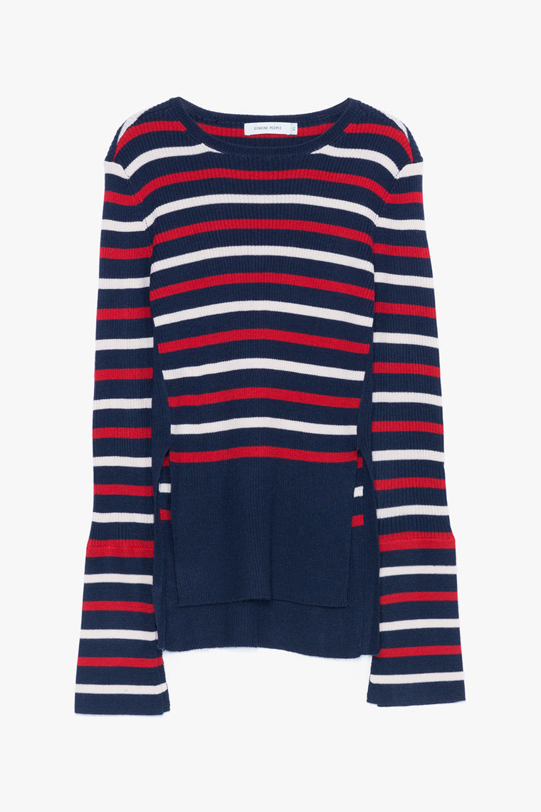 Striped Bell Sleeved Sweater