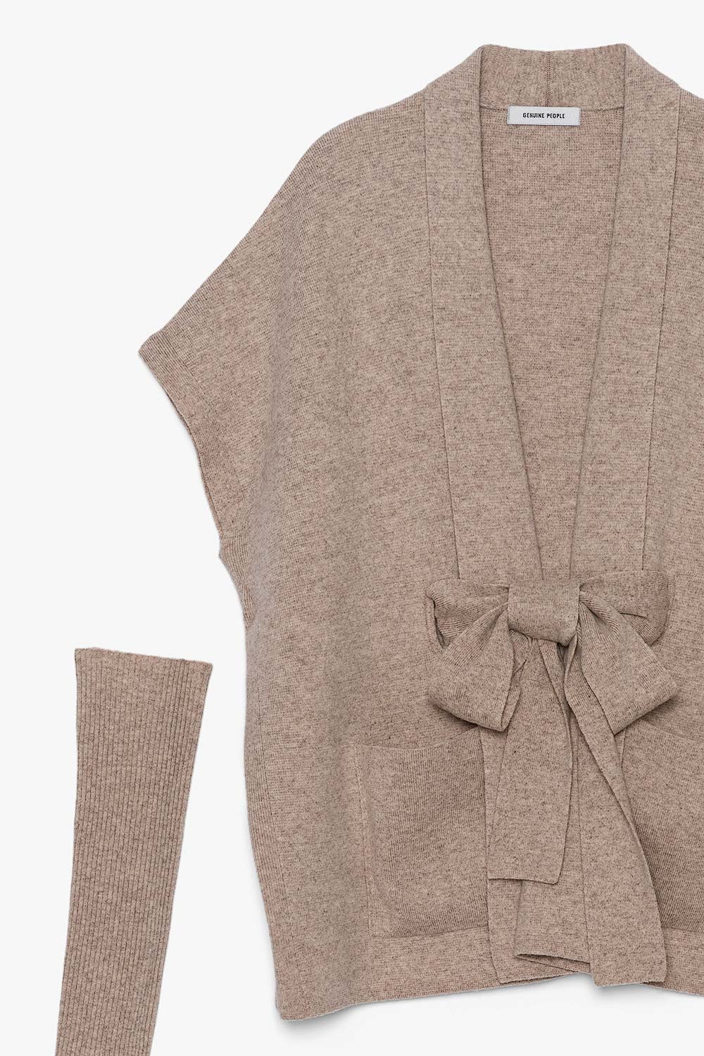 Cashmere Bow Tie Thin Layer Cardigan