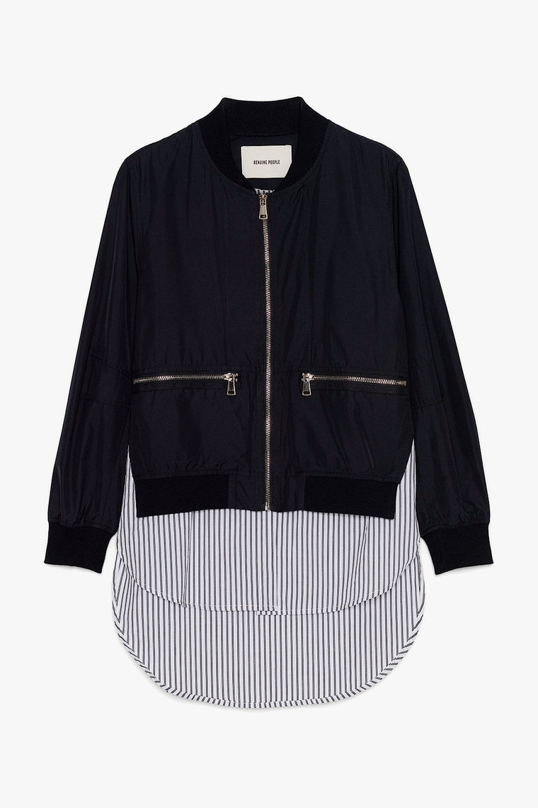 Bomber Jacket with Built in Shirt