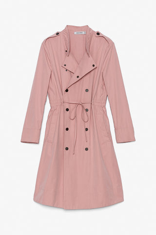 Lightweight Cotton Blend Trench Coat