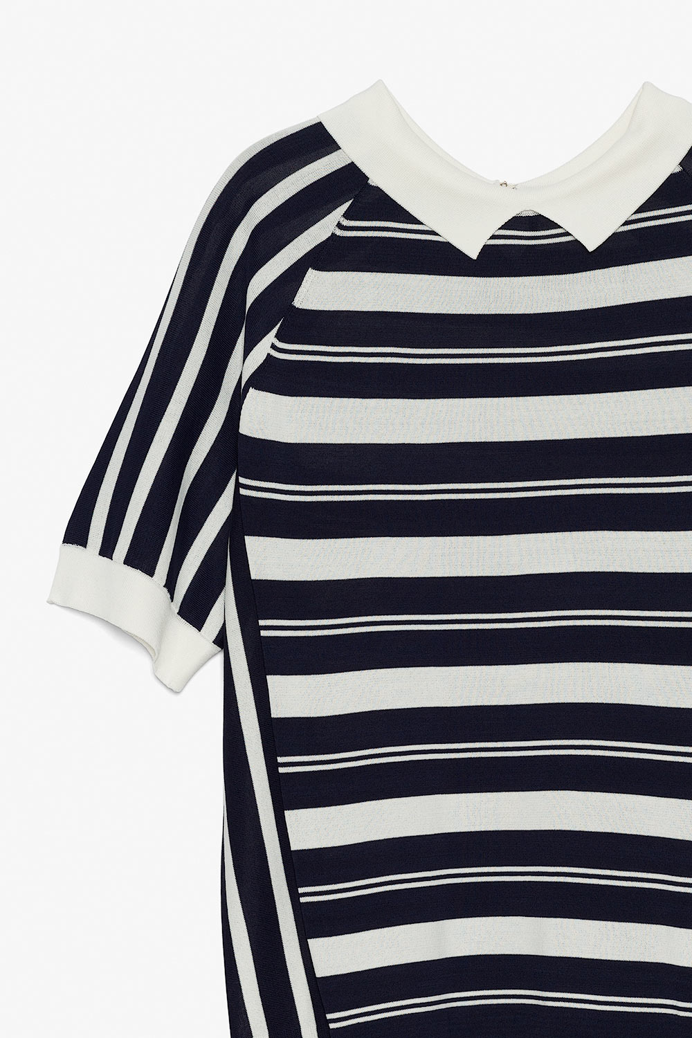 Retro Striped Collared Shirt