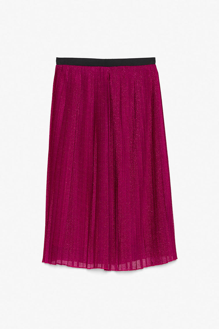 Chiffon Micro Pleat Midi Skirt