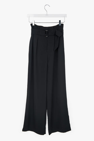 High Waisted Pants with Belt