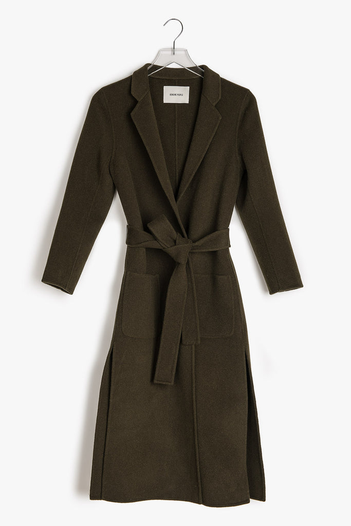 Mid Weight Wool Wrap Coat