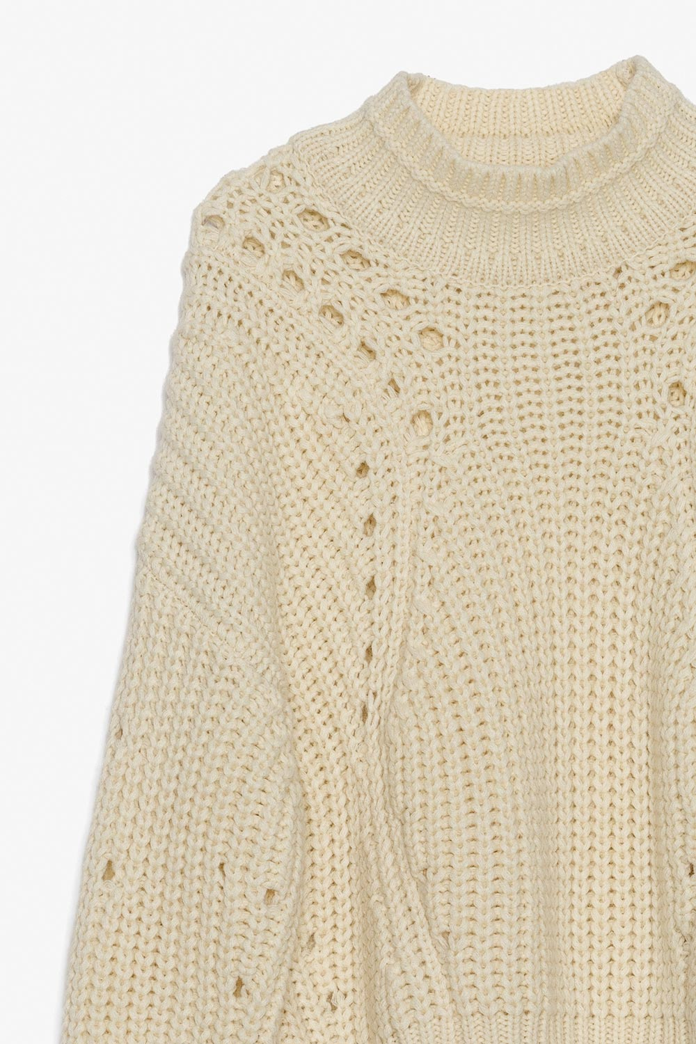 Chunky Wool Knit Turtleneck Sweater
