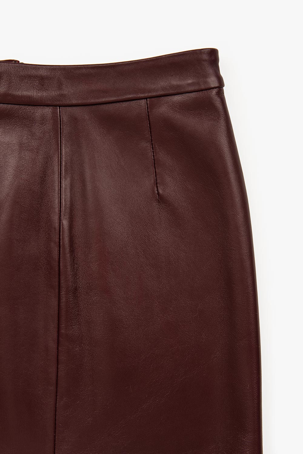 Zip Up Leather Mini Skirt