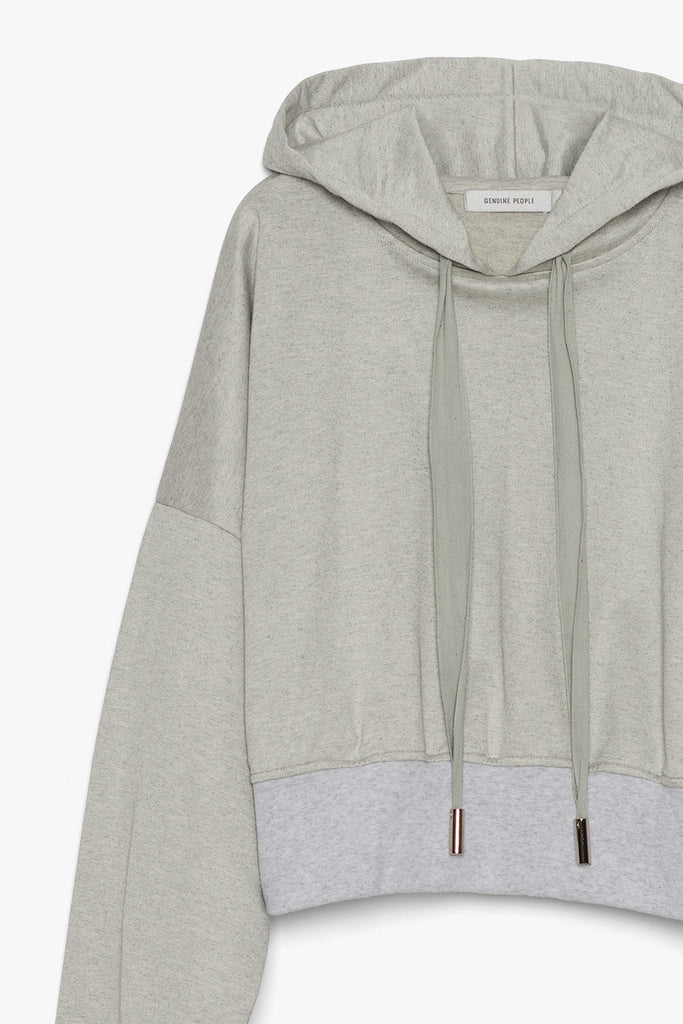 Cotton Blend Hooded Sweatshirt