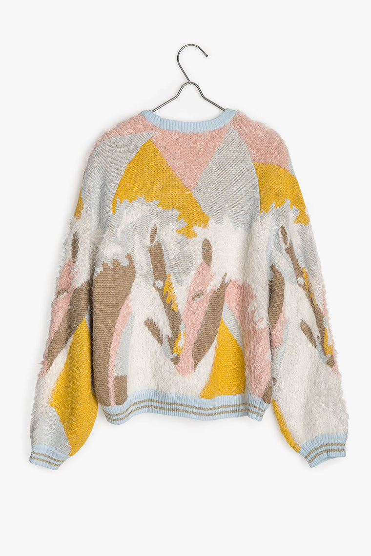 Multi Color Soft Knit Sweater