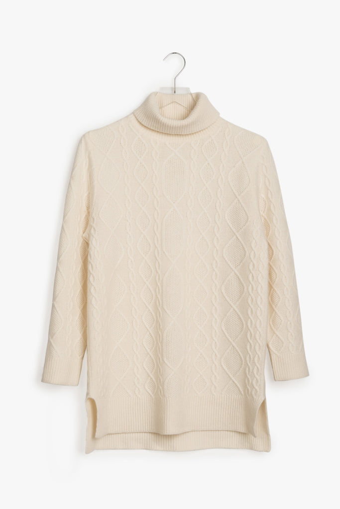 Long Cashmere Sweater with Slits