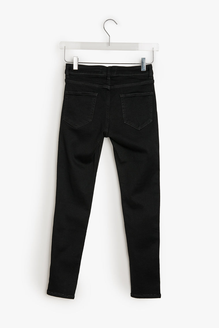 Low Rise Black Stretch Skinny Jeans