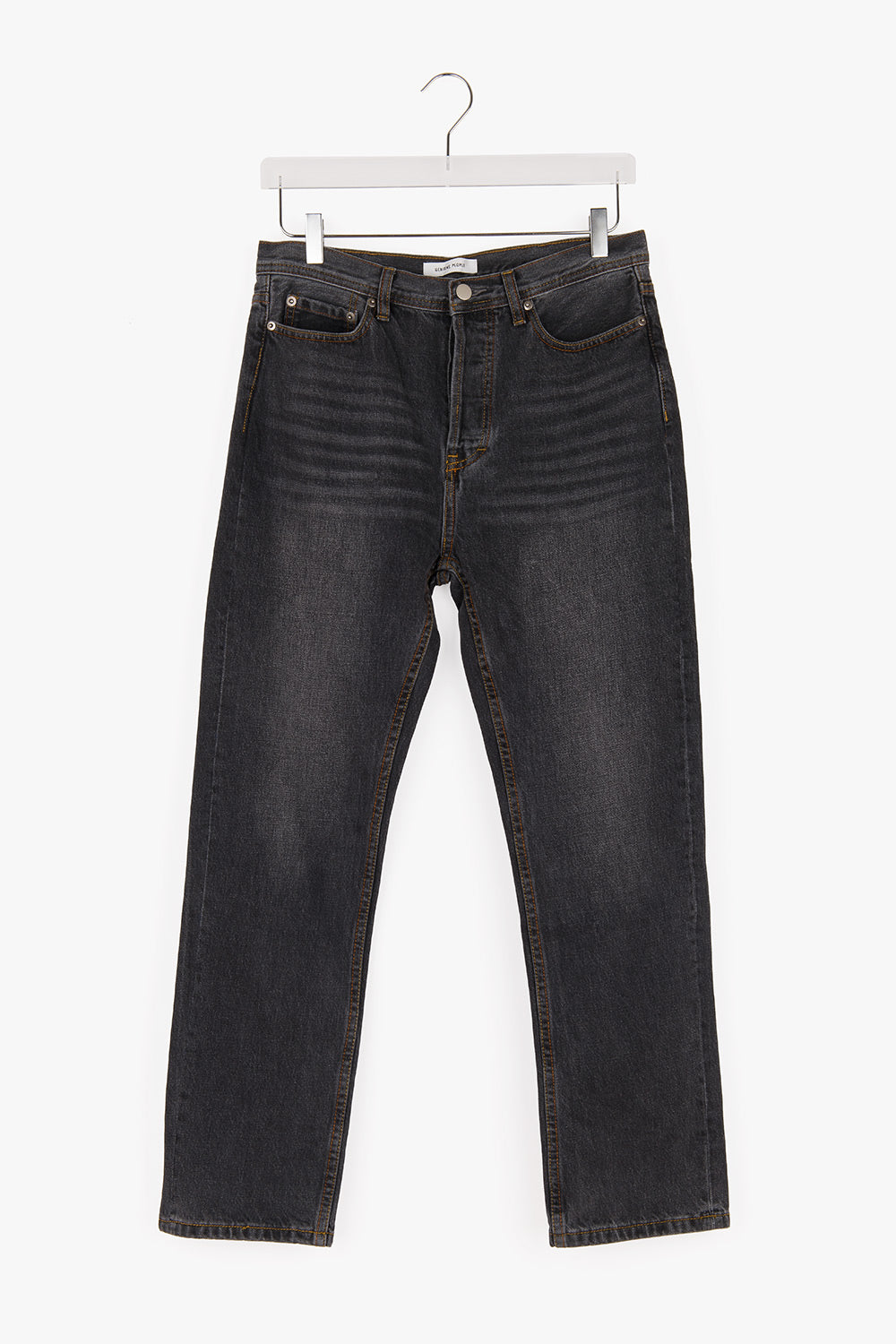 Mid-Rise Straight Loose Jeans