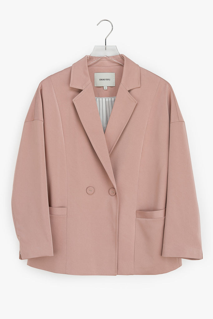 Silky Stretch Oversized Blazer