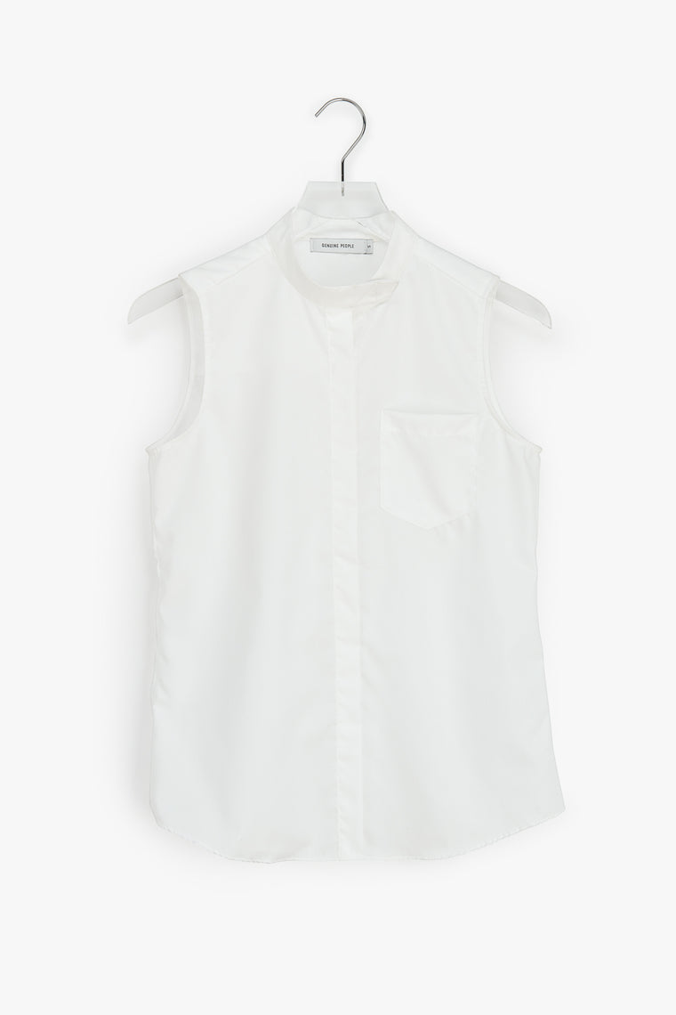 Sleeveless Stretch Cotton Top