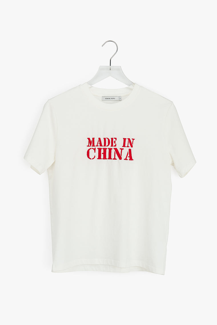 Made in China Embroidered T-Shirt