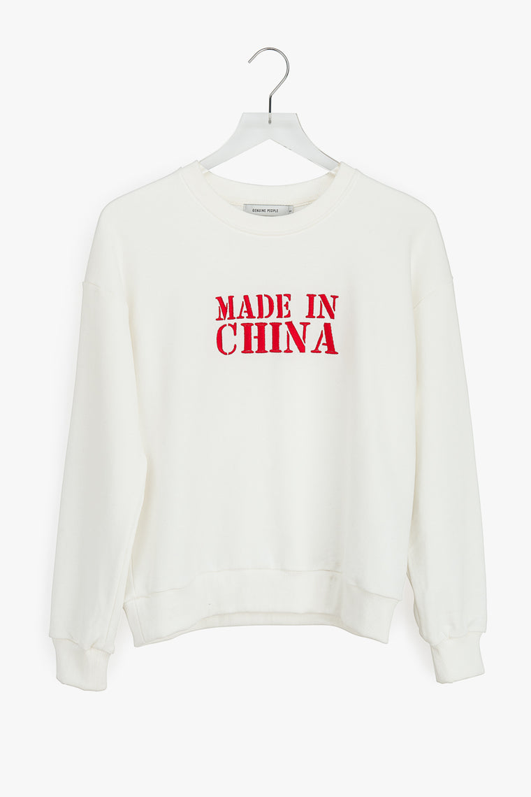 Made In China Embroidered Pullover