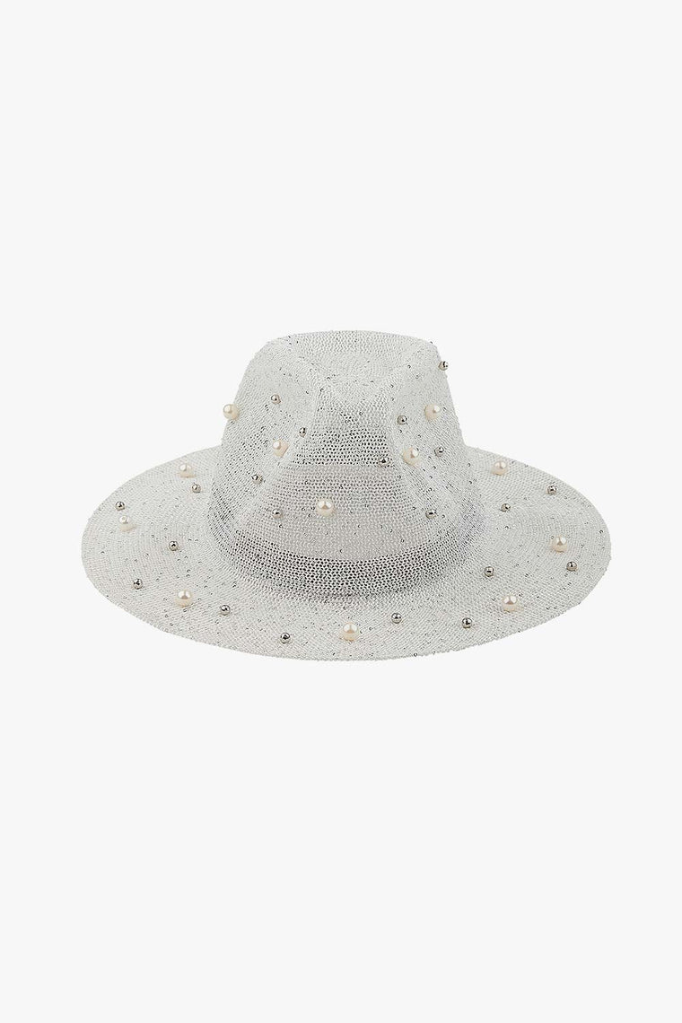 Pearl Adorned Bucket Hat