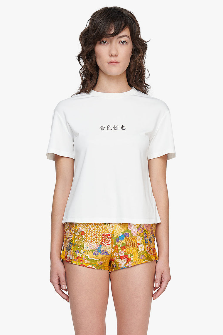 Meng Zi Cotton Stretch T-Shirt