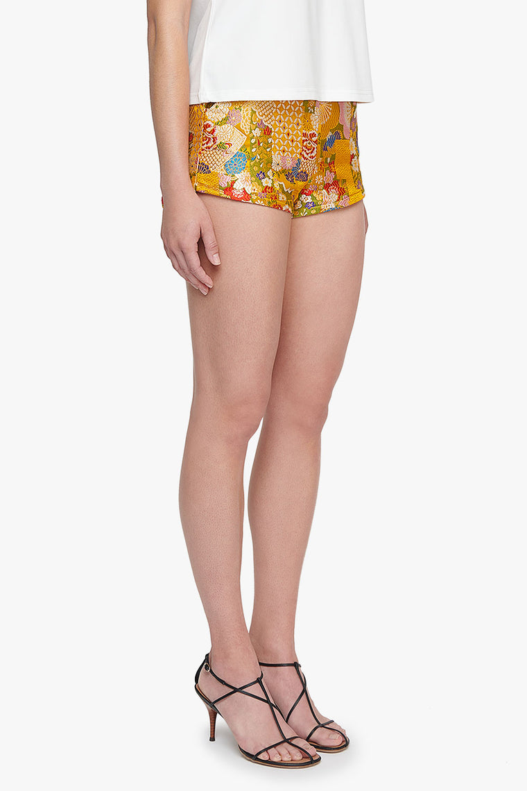 High Waist Embroidered Kabukichō Shorts